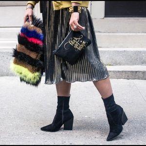 Romeo & Juliet Couture Skirts - Metallic Pleated Skirt